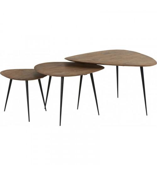 Set de 2 tables basses SOFIA