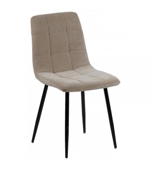 Chaise MANTA tissu sable